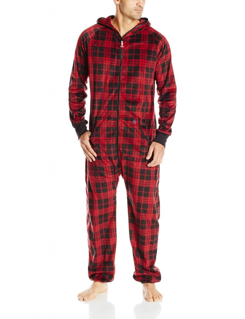 Original Penguin Men's Plaid Sleep Onesie