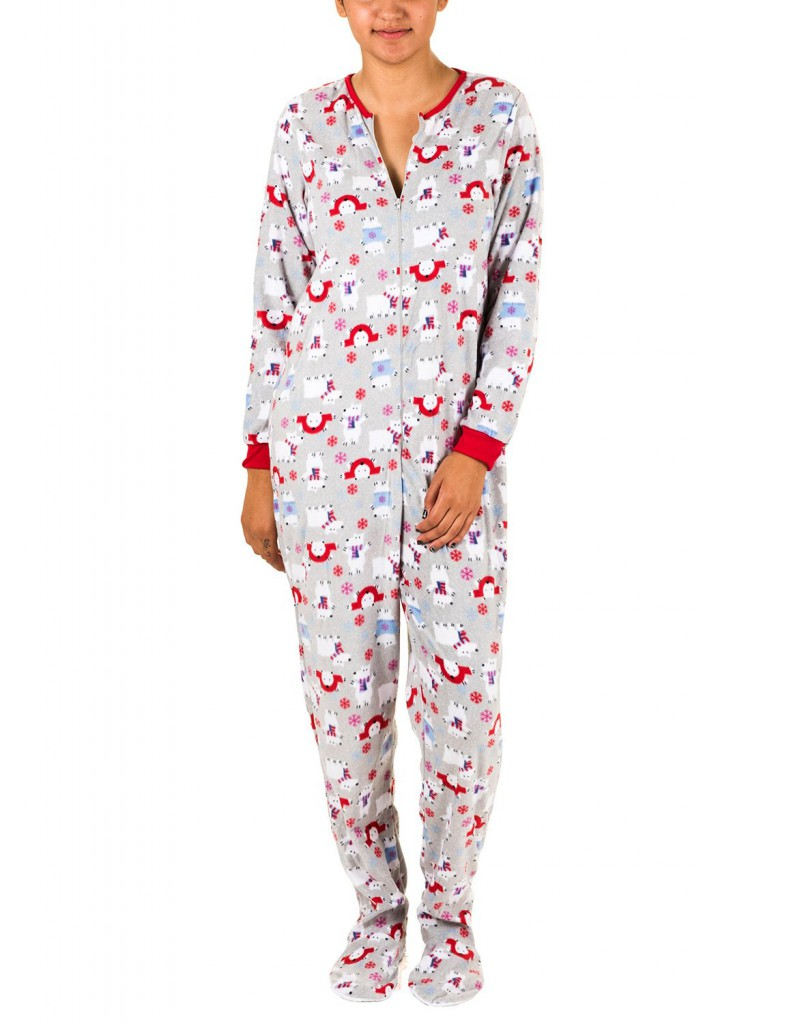 Rene Rofe Juniors Plush Onesie Footie Pajamas