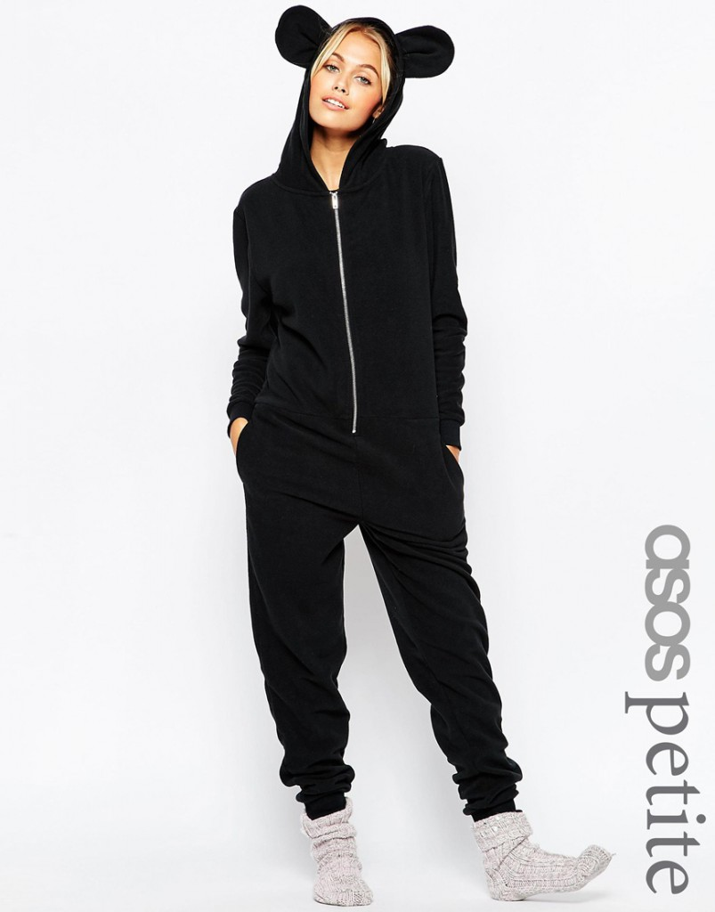ASOS PETITE Fleece Onesie with Ears