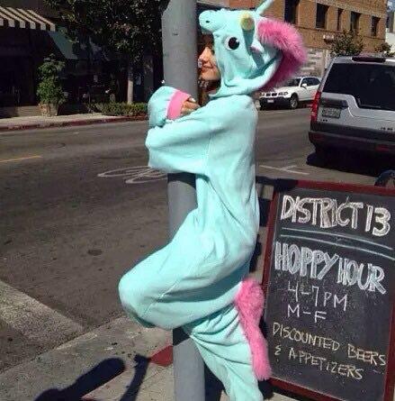 Ariana Grande - Blue Unicorn Kigurumi