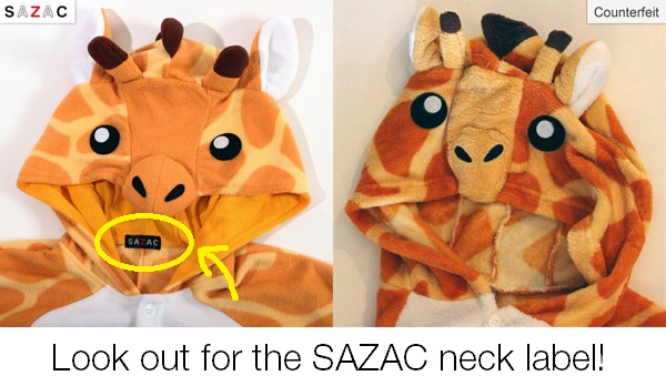 Look for the official SAZAC neck label