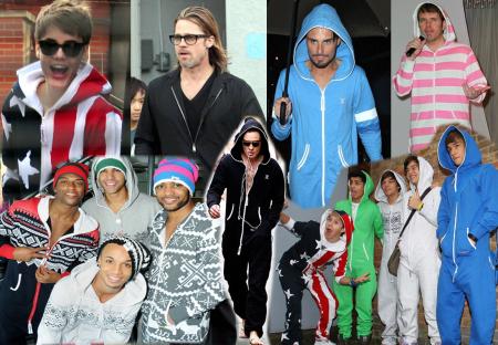 Celebrities in onesies