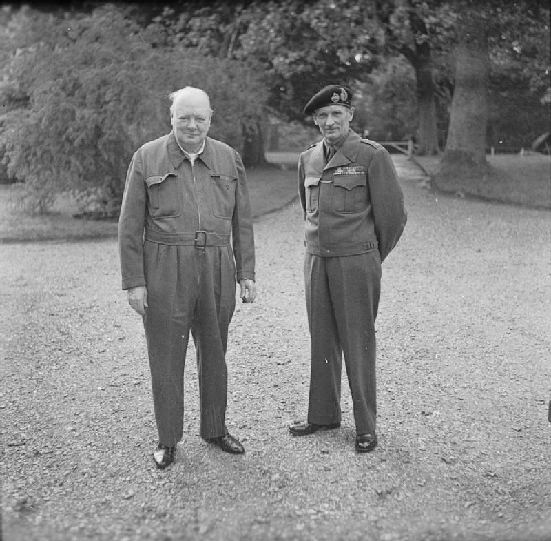 Winston Churchill in a siren suit